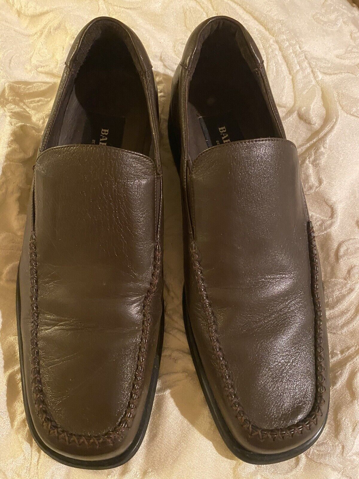 Bardelli Beverly Hills HANDMADE Mens Leather Slip-on Shoes Size 40 7 Brown