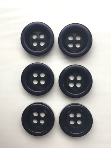 6 Bonfanti Round Dish Rimmed Buttons in 2 Sizes and Many Colours