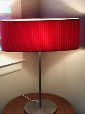 Roche Bobois Table Lamp W/ Pleated Orange Oval Shade