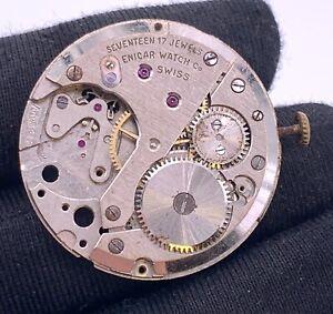 Enicar-Ar-1292-Main-Manuel-Vintage-30-5-mm-Pas-Fonctionne-pour-Pieces