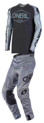 O/'Neal Mens Grey//Black Mayhem Lt Hexx Dirt Bike Jersey and Pants Kit Combo MX