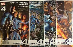 FANTASTIC-FOUR-Volume-1-554-557-SET-VF-NM-1st-Stampa-MARVEL-COMICS