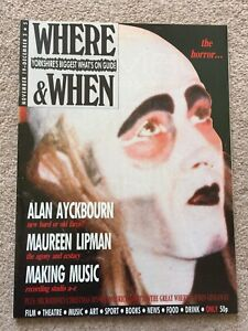 WHERE-amp-WHEN-YORKSHIRE-BiGGEST-WHATS-ON-GUIDE-NOV-19-Dec-3-1980s-Alan-Aykborn