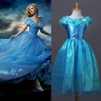 Girls Kids Cinderella dress Costume Deluxe Princess Fancy Dress party dresses