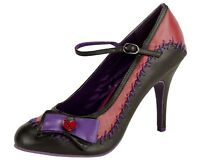T.u.k. Frankenstein Broken Heart Bow Black Spooky Horror Sky Hi High Heel Shoes
