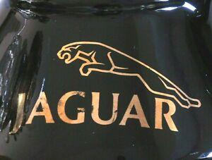 Black Jaguar No Spill Coffee Mug Gold Lettering Jaguar Logo Automobile Sport Car