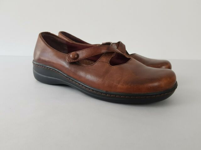 Planet Shoes Brown Leather Mary Jane Comfort Flat Shoe Women's US 7.5 Work Play