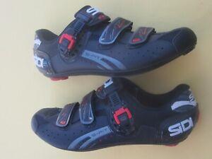 Sidi-Genius-5-Fit-Carbon-Road-shoe-mens-46-EU-US-11-5-black-mesh-spin-peloton