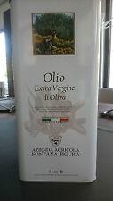 LATTINA 5 LITRI OLIO EXTRAVERGINE D'OLIVA CULTIVAR LA CORATINA 100% ITALIANO
