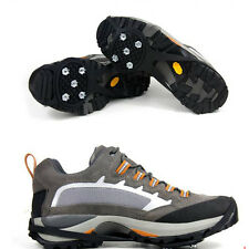 Outdoor 10 Steel Studs Non ANTI-SLIP CRAMPONS GRIP ICE CLEATS/SNOW Over Shoes