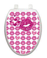 Valentine Toilet Tattoos Kiss Hot Lips Lid Decor Vinyl Reusable