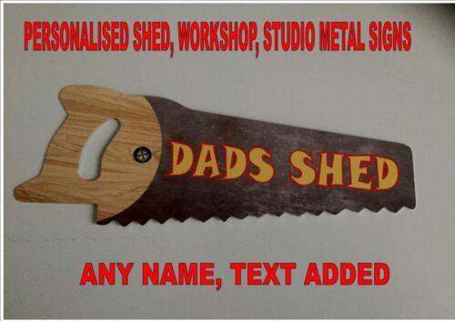 Personnalisé Dads Shed SIGNE scie à bois Design SIGNE atelier signe Cadeau Fête des Pères