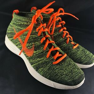 Details about NIKE LUNAR FLYKNIT CHUKKA MEN'S 9.5 554969 080 BLACKTOTAL ORANGE PARACHUTE GOLD