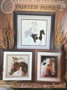 Painted-Ponies-Horses-Cross-My-Heart-Cross-Stitch-Pattern-Csb-222-Retired