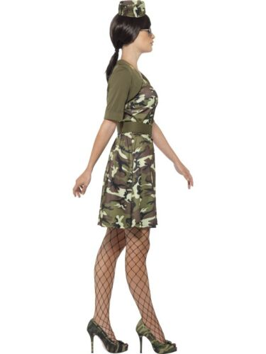 Ladies Army Soldier Combat Cadet Fancy Dress Costume Military Outfit by Smiffys