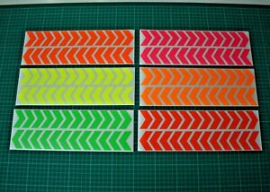 Motorbike Cycle Safety Reflective Stickers Hexagons Hi Vis A5 Sheet