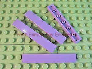 New-LEGO-TILE-1x6-Lavender-Light-Purple-Plain-Smooth-Lot-of-4-Part-6636