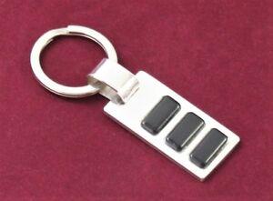 Gut Ausgebildete Schlüsselanhänger 925 Silber Sterling Massiv Mit Ebenholz Schmuckstück Herren Modische Muster