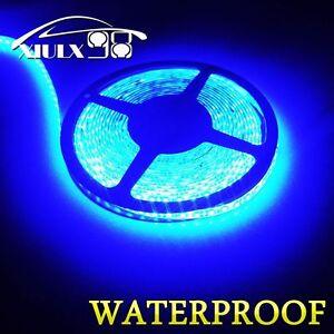 Super-Bright-Ultra-Blue-5M-3528-Waterproof-Flexible-LED-Strip-Light-300Leds-12V