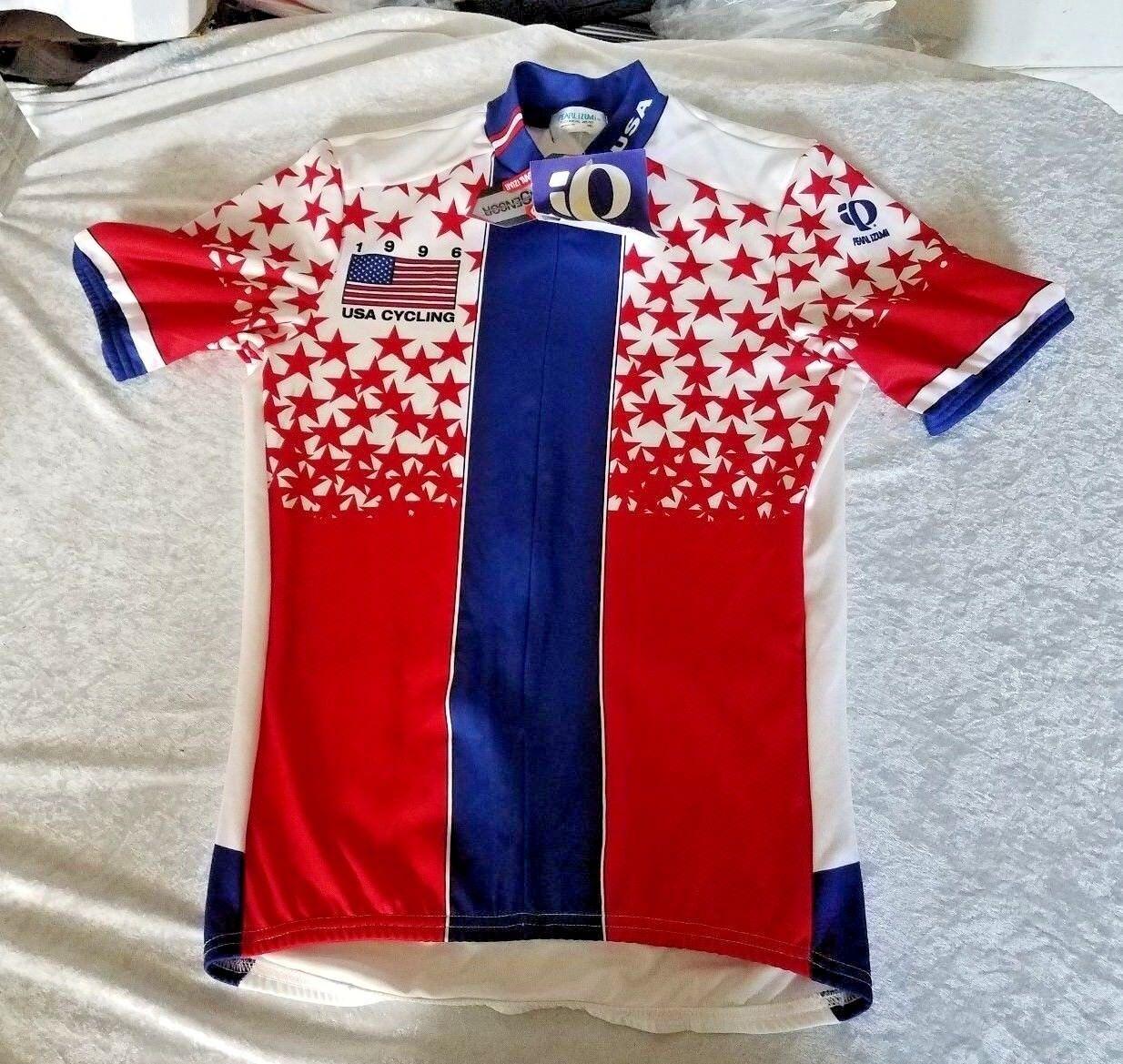 Cycling Jersey NWT NEW NOS M 1996 Pearl Izumi US Team USA Stars Olympics