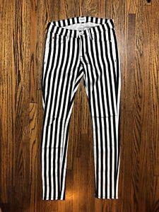 In Super Stripe Taglia Black Hudson Krista Skinny 24 White 51wptqx