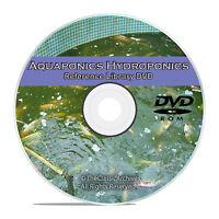 Hydroponics Aquaponics, Aquaculture Soilless Growth Raising Plants Fish Dvd V66