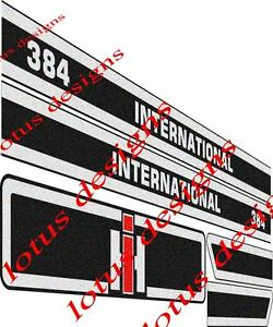 Details about international 384 Tractor stickers / decals