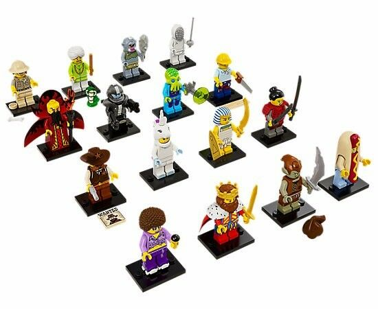 Sealed Complete Set of 16 LEGO Series 13 Collectible Minifigures 71008 Unopened