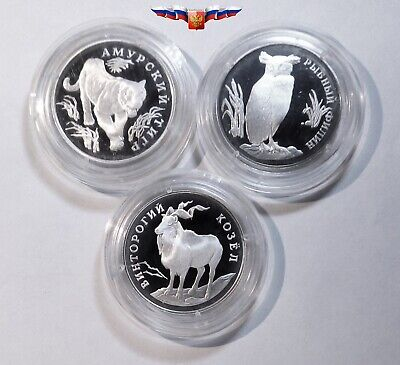 Russia 3 rubles 2010 Year of Tiger Silver 1 oz PROOF