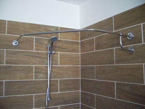Angle Corner Curtain Rod Stainless Steel Bathroom Rail Whole Pipe Inox