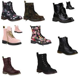 Damen-Stiefeletten-Gefuettert-Worker-Boots-Profilsohle-891954-Schuhe