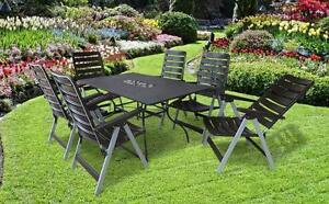 gartenm bel set garten sitzgruppe gartengarnitur lounge gruppe wetterfest rom ebay. Black Bedroom Furniture Sets. Home Design Ideas