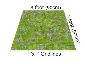 3-039-x3-039-RPG-Grassy-Playmat-gaming-mat-dnd-D-amp-D-battle-board-pathfinder-dungeon