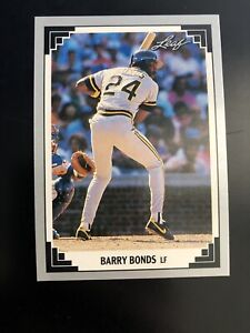 1991-Leaf-Barry-Bonds-261-Rare-not-Preview-Pittsburgh-Pirates