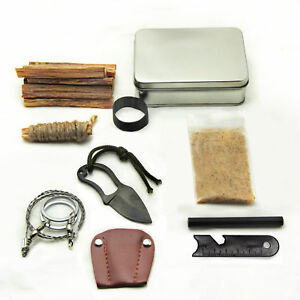 Survival-Tin-Fatwood-Hand-Cut-in-USA-Ferrocerium-Ferro-Rod-Saw-Knife