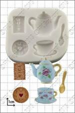 Silicone mould Tea & Biscuits | Food Use FPC Sugarcraft FREE UK shipping!