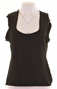 DOLCE-amp-GABBANA-Womens-Vest-Top-IT-46-Large-Black-Viscose-IG03