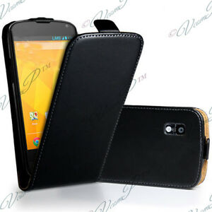 Samsung-Galaxy-Nexus-i9250-Housse-Coque-Etui-Pochette-Clapet-PU-Cuir-Veritable