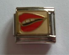 9mm Classic Size Italian Charms  Charm E27  Mouth Lips Kiss