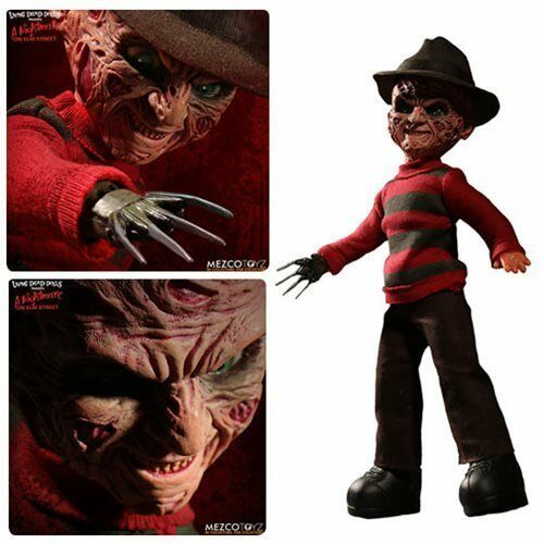 Nightmare on Elm Street Frougedy Krueger Living Dead Dolls Figure with Sound MEZCO