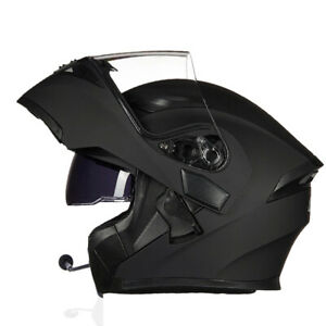 Motorcycle Helmet With Bluetooth Headset Modular Flip Up  Full Face Helmets DOT