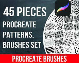Details about Procreate Patterns, Brushes set of 45 pieces \ Procreate  brush \ Procreate