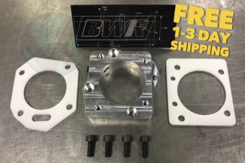 K Series to B Series Throttle body adapter kit BWR with Thermal gaskets hardware