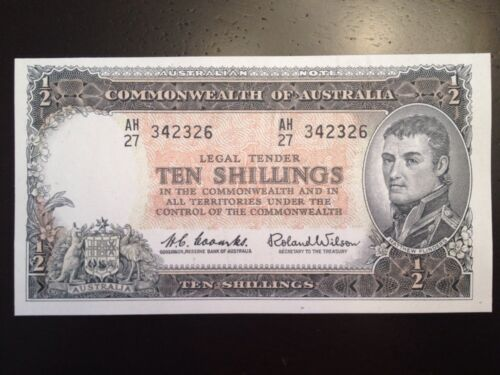 Matthew Flinders Reproduction Commonwealth Of Australia 1960 Ten Shillings 10//