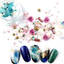 Nail Art 3D DIY Glitter Rhinestones Rose Jewelry Gems Mix Nail Art Decoration