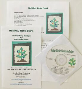 Sew-Precious-Digitized-Machine-Embroidery-CD-Holiday-Note-Card-Christmas-2003