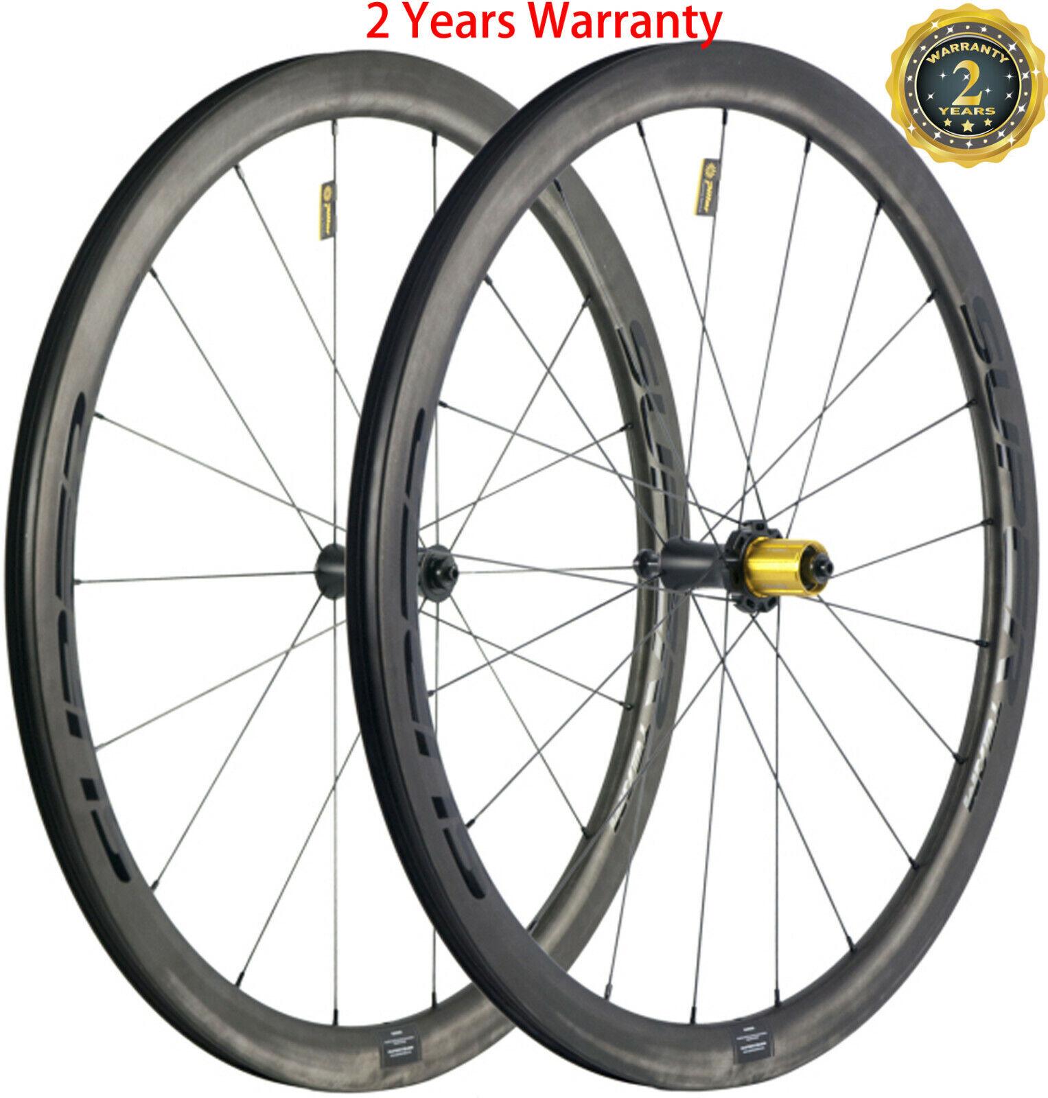 40mm Carbon Wheelset Road Wheels Ceramic Bearing 700C Clincher Tubular Tubeless