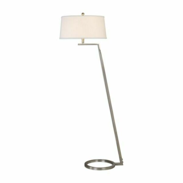 Uttermost 28108 Ordino Modern Nickel Floor Lamp For Sale Online Ebay