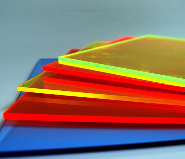 3mm Acrylglas Platte 100x70 cm orange fluoreszierend
