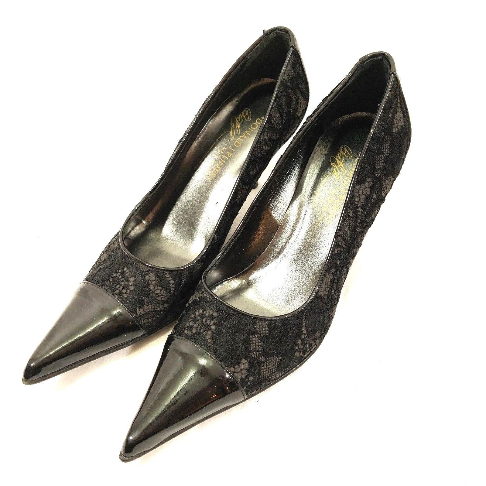 Donald J Pilner Pilner Pilner Womens Heels 6.5M Lace Design Shiny Toe 1b93c1